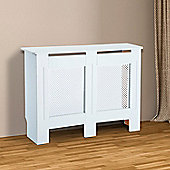 Homcom Wooden Radiator Cover Cabinet Modern Grill Style White (Medium)