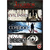 Horror Triple Boxset - The Evil Inside, The Corridor, State Of Emergency
