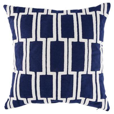 Arai pattern cushion blue