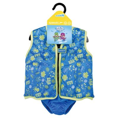 Speedo Sea Squad Swim Vest, 4-5 years, Blue