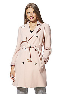 F&F Belted Trench Coat - Blush pink