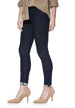 F&F 4 Way Stretch High Rise Tube Pants - Indigo wash