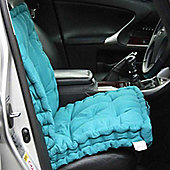Homescapes Cotton Travel Back Support Booster Cushion Teal