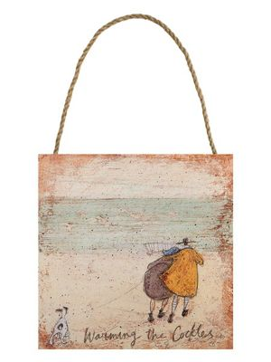 Sam Toft Warming The Cockles Wooden Wall Art 20 x 20 x 3cm