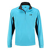 Woodworm Golf Mens 1/2 Zip Tech Pullover / Sweater / Jumper - Sky blue