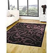 Element Warwick Black/Purple 160x220 cm Rug