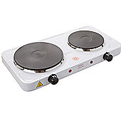 Lloytron E4202WH Kitchen Perfected Double Hotplate, 2500 W, White