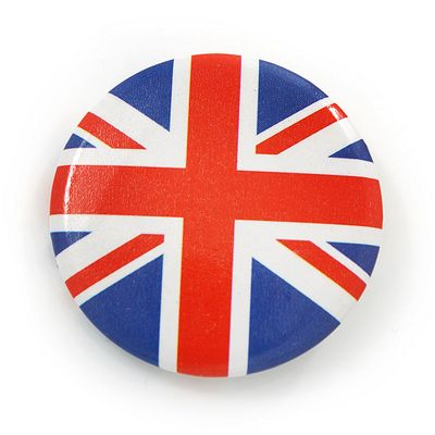 Union Jack Flag Lapel Pin Button Badge - 3cm Diameter