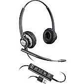 Plantronics Encorepro HW725 Binaural Head-band Black Silver headset