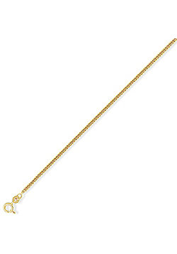9ct Gold Diamond-Cut Tightly-linked Curb Chain - 2.1mm gauge