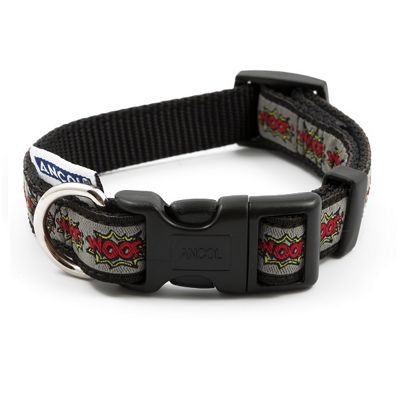 Ancol Timberwolf Leather Dog Collar - Size 2 (26-31cm)