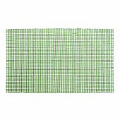 Homescapes Cotton Gingham Check Rug Hand Woven Green White, 110 x 170 cm