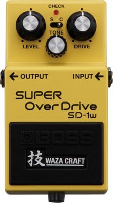Boss SD-1W Super Overdrive Waza Craft Compact Effects Pedal