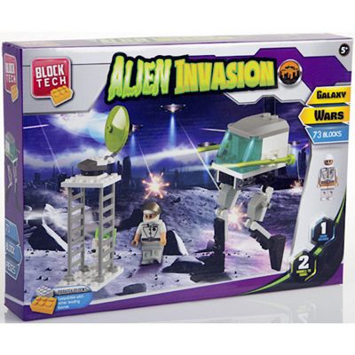Block Tech Alien Invasion Playset - 73 Pieces