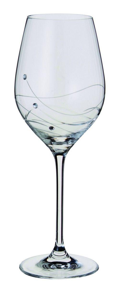 Dartington Crystal - Glitz Collection Wine Glass Pair