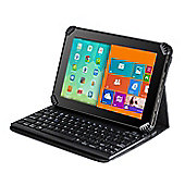 Navitech Folding Leather Folio Case Cover & Stand With Removable Bluetooth Keyboard For The HUAWEI MediaPad T3 10