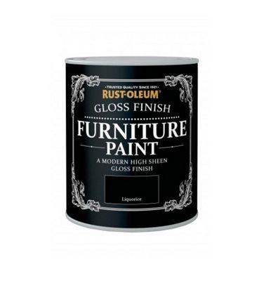 Rust-Oleum Gloss Furniture Paint - Liquorice - 125ML