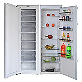 Cookology Upright 177cm Integrated Tall Fridge & Full Height Built-in Freezer Pack