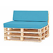 Water Resistant Pallet Small Back Cushion - Turquoise