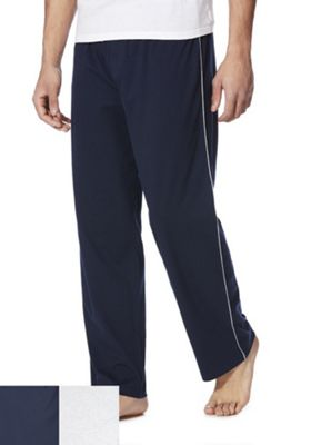 F&F 2 Pack of Lounge Pants Navy/Grey XL