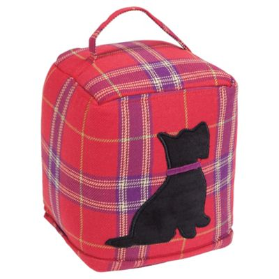 F&F Home Tartan Scotty Dog Doorstop