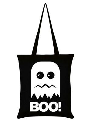 Boo! Ghost Black Tote Bag