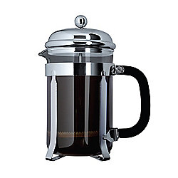 Cafe Ole 1500ml 12-Cup Classic Coffee Maker Glass Cafetiere Chrome Finish