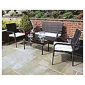St Tropez Brown Rattan Garden Lounge Set, 4 Piece