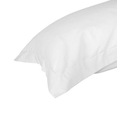 Homescapes White Egyptian Cotton Oxford Pillowcase Luxury Pillow Cover 1000 TC