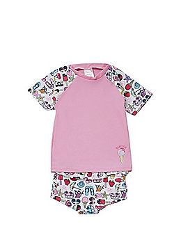 Babeskin Holiday Print UPF 50+ Rash Top and Shorts Set - Multi