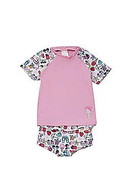 Babeskin Holiday Print UPF 50+ Rash Top and Shorts Set - Multi