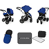 Ickle Bubba Stomp V3 AIO Travel System/Mosquito Net Blue (Silver Chassis)