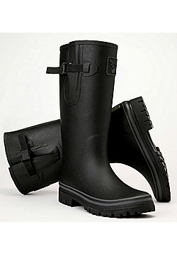 Evercreatures Mens Classic Wellies Black With Grey Edging 8