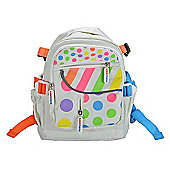 Kiddimoto Small Childs Backpack Pastel Dotty with padded shoulder straps