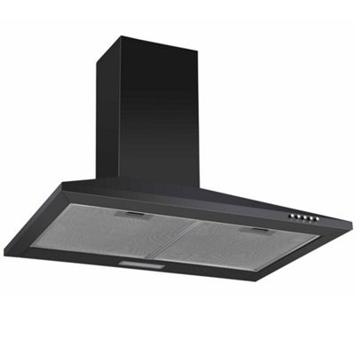 Cookology CH700BK 70cm Chimney Cooker Hood, Kitchen Extractor Fan in Black