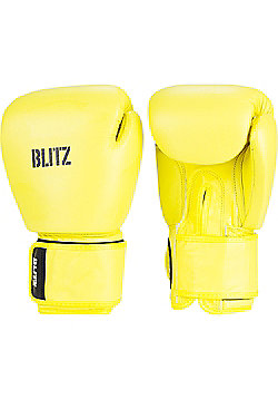 Blitz - Standard Leather Boxing Gloves - Neon yellow