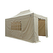 All Seasons Gazebos, Heavy Duty, Fully Waterproof, 3m x 4.5m Superior Pop up Gazebo Package in Beige