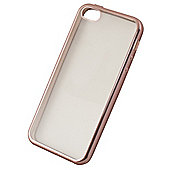 Tortoise™ Soft Case iPhone 5/5S/SE Clear with Electro Rose Gold Edging