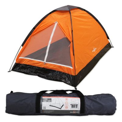 Milestone 2 Man Dome Tent Orange  sc 1 st  Tesco : tescos tents - memphite.com