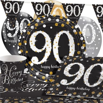 Sparkling Celebration 90th Birthday Party Pack - Deluxe Pack for 8
