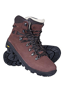 Mountain Warehouse Mens Waterproof and Breathable Boots with Leather Upper - Brown