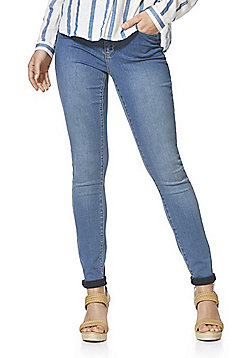 Vero Moda Mid Rise Slim Leg Jeans - Mid wash