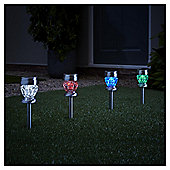 2 In 1 Colour Changing Solar Stake & Table Lamp - Pack of 4