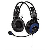 Hama uRage Vibra Binaural Head-band Black Blue headset