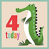 4th Birthday Crocodile Card