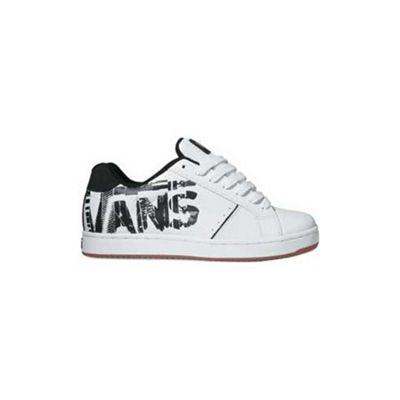 Vans Widow (Mixed) White/Black Kids Shoe DE22BJ