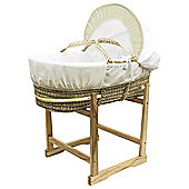 Kinder Valley Teddy in Balloon Moses Basket & Compact Stand