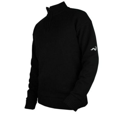 Woodworm Golf Lined Wool Half Zip Sweater S
