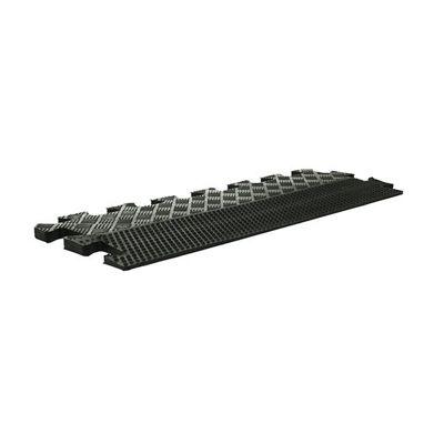 Bodymax Rubber Interlocking Floor Mats - Black Tapered Edge Strip - 500mm x 185mm x 12mm tapered