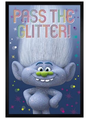 Black Wooden Framed Trolls Diamond Guy Poster 61x91.5cm